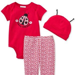 Baby Girls Ladybug Outfit Size 6 Months